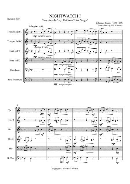 Nightwatch I, Op. 104