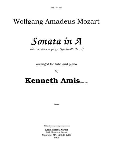 Piano Sonata in A (Third Movement --a.k.a. Turkish March) for tuba & piano