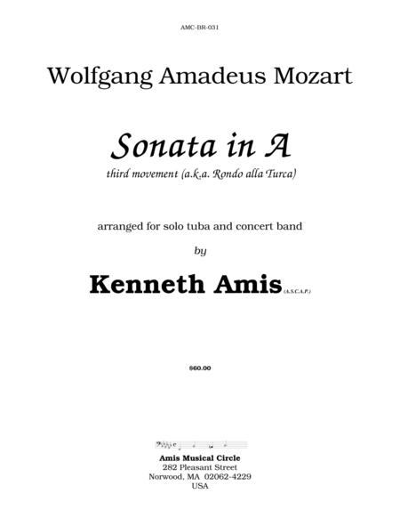 Piano Sonata in A (Third Movement --a.k.a. Turkish March) for tuba and concert band