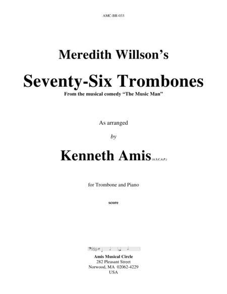 Seventy-Six Trombones (trombone and piano)