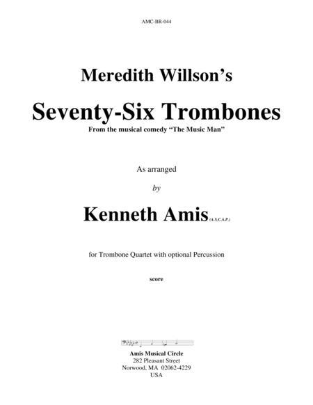 Seventy-Six Trombones (trombone quartet)