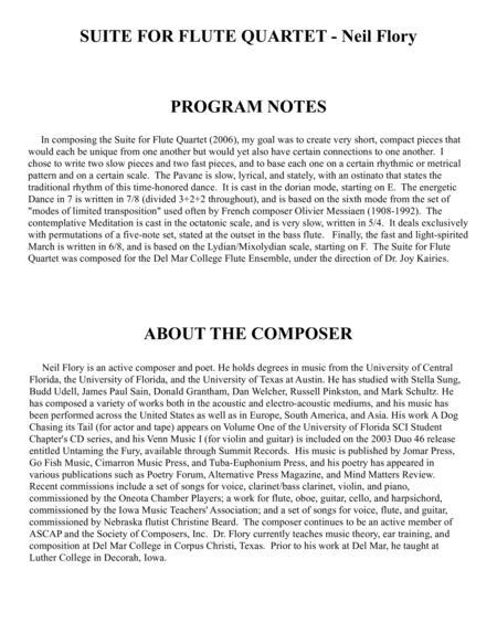 Suite for Flute Quartet