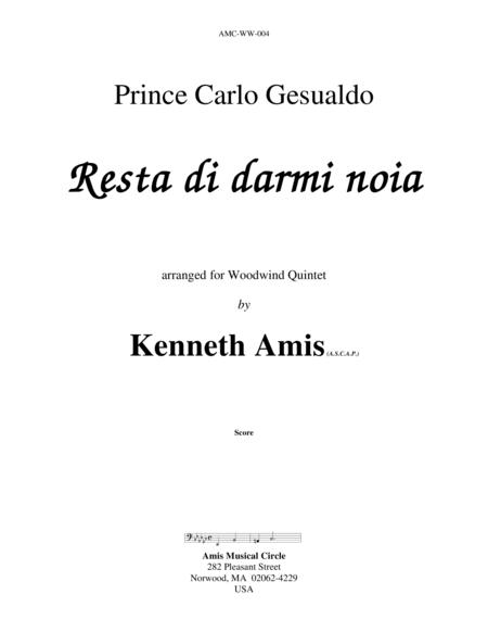 Resta di darmi noia (for woodwind quintet)