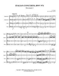Italian Concerto - BWV 971, Mvt. 1