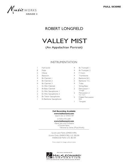 Valley Mist (An Appalachian Portrait) - Full Score
