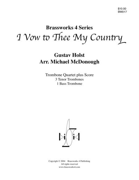 i vow to thee my country sheet music pdf