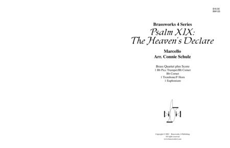 Psalm XIX: The Heavens Declare