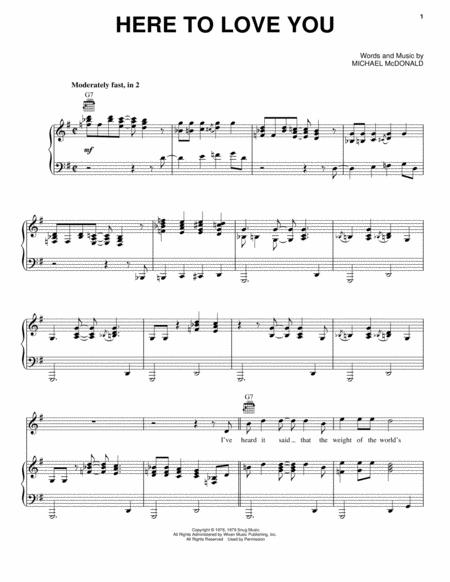 Download Here To Love You Sheet Music By The Doobie Brothers Sheet