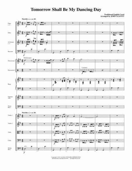 Tomorrow Shall Be My Dancing Day - Full Score