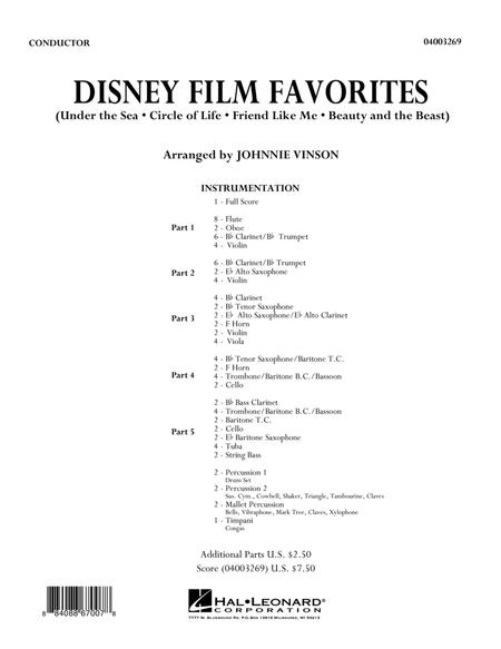 Disney Film Favorites - Full Score