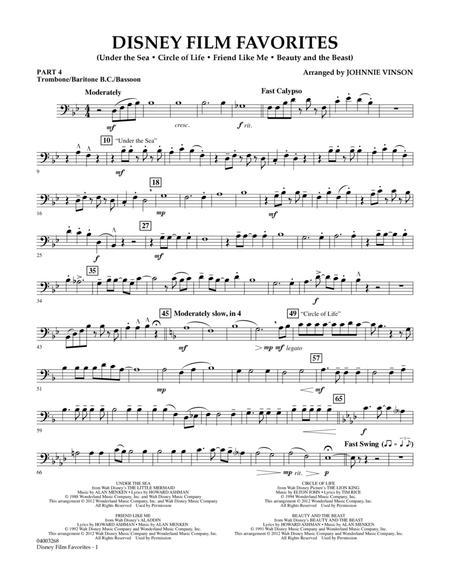 Disney Film Favorites - Pt.4 - Trombone/Bar. B.C./Bsn.