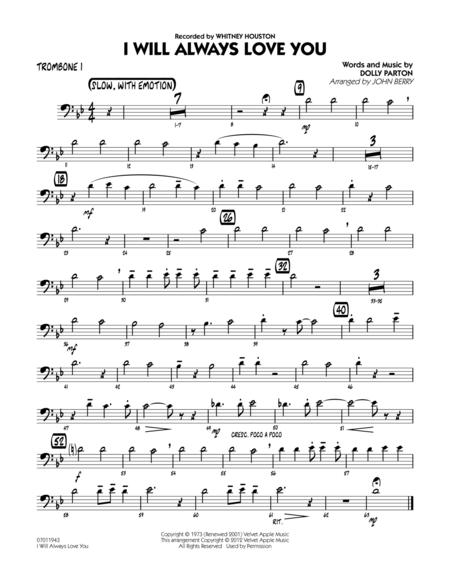 I Will Always Love You - Trombone 1