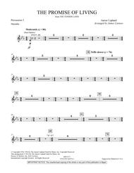The Promise Of Living (from The Tender Land) - Percussion 3