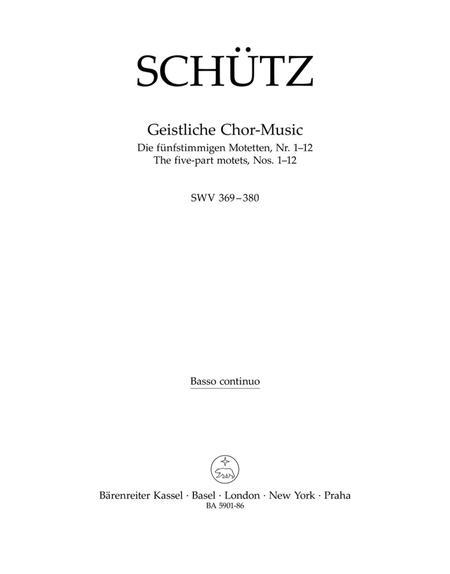 Sacred Choral Music SWV 369-380
