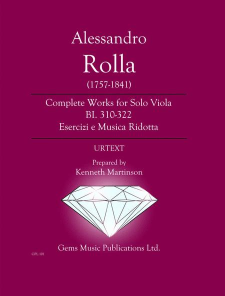 Complete Works for Solo Viola BI. 310-322