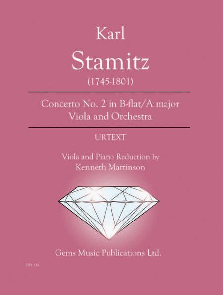 Concerto No. 2 in B-flat/A major Viola and Orchestra