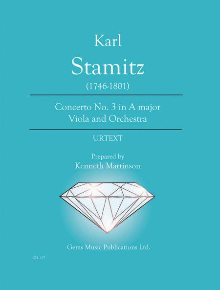 Concerto No. 3 in A major Viola and Orchestra