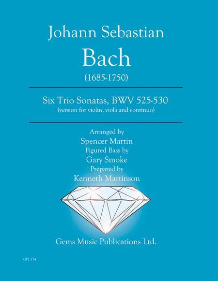 Six Trio Sonatas, BWV 525-530 (version for violin, viola and continuo)