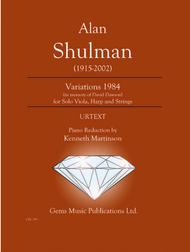 Variations 1984 for Solo Viola, Harp and Strings