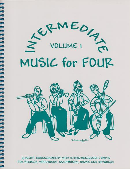 Intermediate Music for Four, Volume 1, Set of Parts for String Quartet