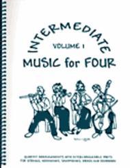 Intermediate Music for Four, Volume 1, Set of 5 Parts for String Quartet plus Piano