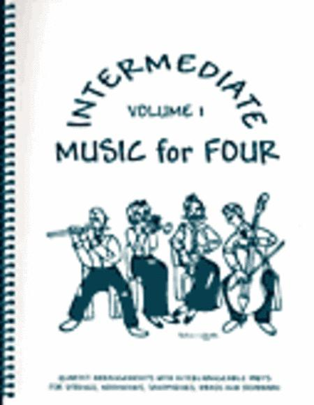 Intermediate Music for Four, Volume 1, Set of 4 Parts for 3 Violins & Cello