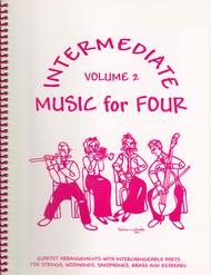 Intermediate Music for Four, Volume 2, Set of Parts for String Quartet
