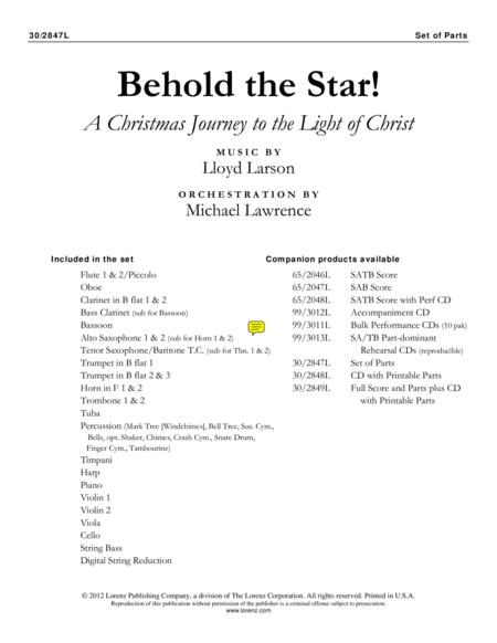 Behold the Star! - Set of Parts