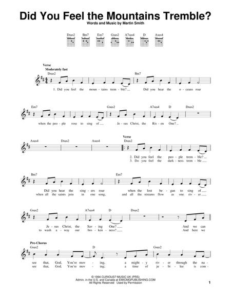 Download Did You Feel The Mountains Tremble Sheet Music By Passion