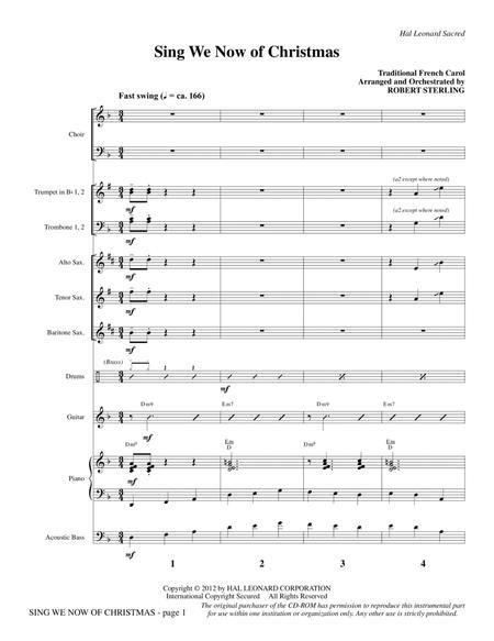 Sing We Now Of Christmas - Full Score