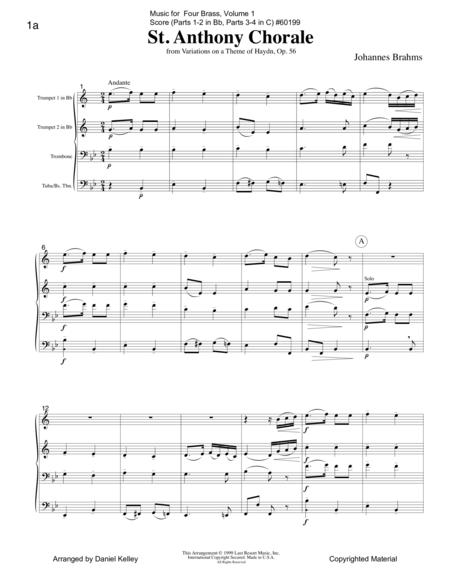Music for Four Brass, Volume 1, Score