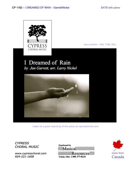 I Dreamed of Rain (SATB)