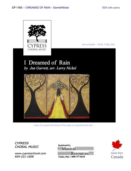 I Dreamed of Rain (SSA)