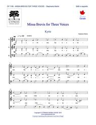 Missa Brevis for Three Voices (SAB)