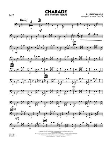 Charade (Solo Trombone Feature) - Bass