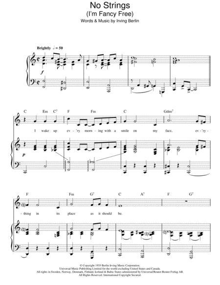 Download No Strings Im Fancy Free Sheet Music By Irving Berlin