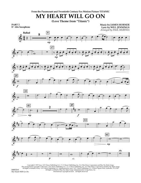 My Heart Will Go On (Love Theme from Titanic) - Pt.2 - Eb Alto Saxophone