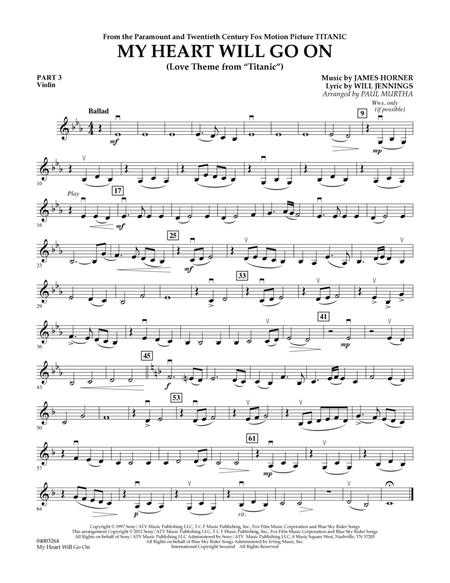 My Heart Will Go On (Love Theme from Titanic) - Pt.3 - Violin