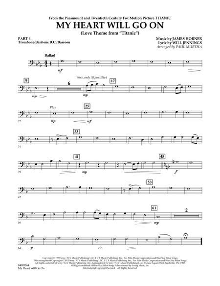 My Heart Will Go On (Love Theme from Titanic) - Pt.4 - Trombone/Bar. B.C./Bsn.