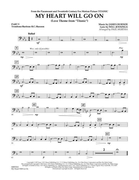 My Heart Will Go On (Love Theme from Titanic) - Pt.5 - Trombone/Bar. B.C./Bsn.