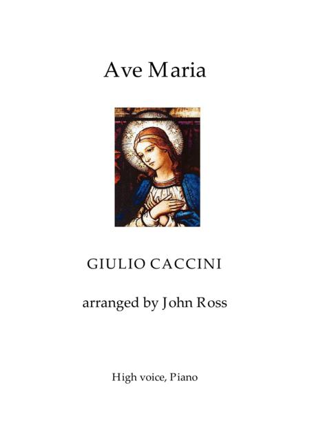 Ave Maria (High Voice, Piano)