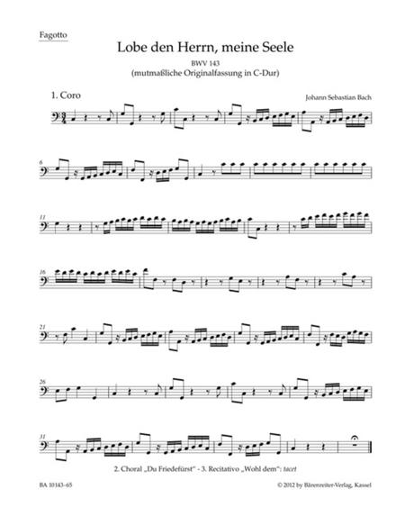 Praise thou the Lord, o my spirit, BWV 143