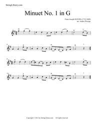 Download Minuet In G Sheet Music By Franz Joseph Haydn