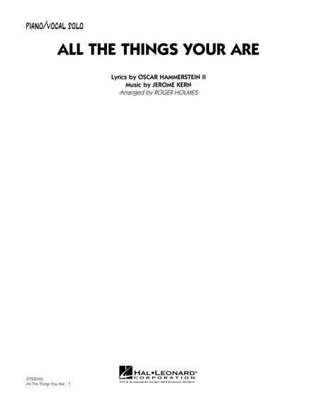 All The Things You Are - Piano/Vocal