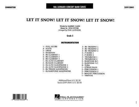 Let It Snow! Let It Snow! Let It Snow! - Full Score