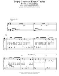 Empty Chairs At Empty Tables (from Les Miserables)  sc 1 st  Sheet Music Plus & Download Empty Chairs At Empty Tables (from Les Miserables) Sheet ...