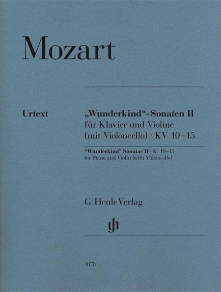 Wunderkind-Sonatas for Piano and Violin (with Violoncello) Volume 2