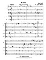 Rondo from Abdelazar Suite-score