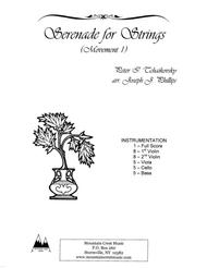 Serenade for Strings, Movement 1-score