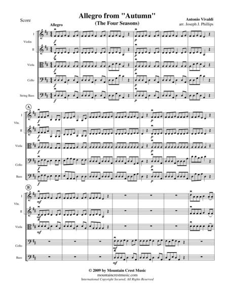 The Four Seasons: Allegro from Autumn-score